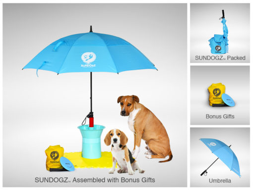 SUNDOGZ Ultimate Pack with Blue Umbrella