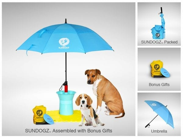 SUNDOGZ Ultimate Pack with Blue Umbrella
